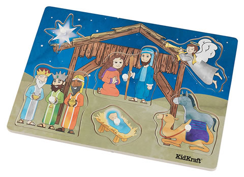 KidKraft Wooden Nativity Peg Puzzle