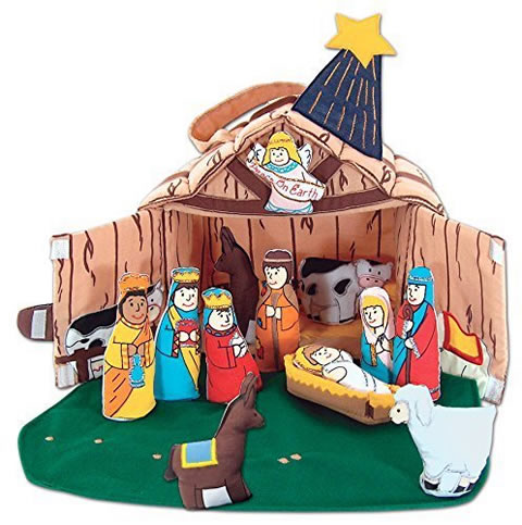 Pockets of Learning Fabric Nativity Set